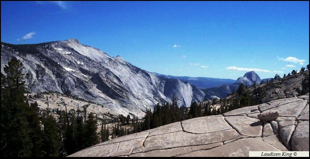 Clouds Rest and Half Dome from Olmsted Point