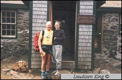 Ray Evans at Carter Notch Hut, 1990